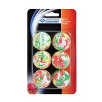 Multicolour Popps 40mm Mixed Table Tennis Balls 6 Pack