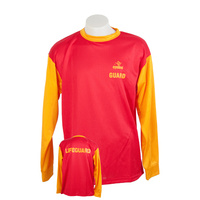 Lifeguard Unisex Mock Mesh Long Sleeve T-Shirt