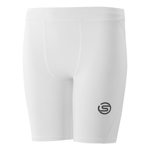 SKINS SERIES-1 Youth Half Tights White