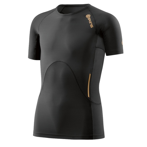 Skins A400 Youth Top Short Sleeve Black/Gold YL